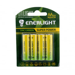 Батарейка ENERLIGHT Super Power AA, R6 1.5V Zn/C blister