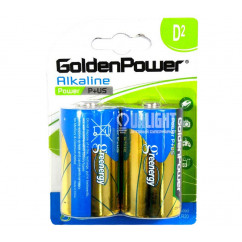Батарейка GoldenPower Alkaline Power P+US LR20 1.5V