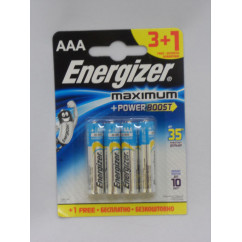 Батарейка Energizer MAXIMUM Power Boost LR03 Alkaline 1x4